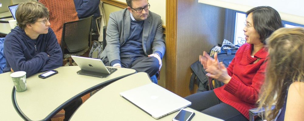 Academic Innovation director listening to developer